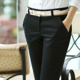 Compare Prices For Women Ladies Suit Pant Business Straight Black Trousers Office Formal Slim Fit Mid Waist Pant