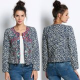 Sale Women Ladies Vintage Style Ethnic Embroidered Edges Floral Print Quilted Jacket Coat Intl Oem Cheap