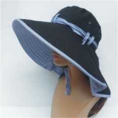 Women Lady Wide Brim Folding Sun Hat Outdoor Hiking Fishing Uv Protection Cap Black Intl Compare Prices