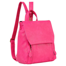 For Sale Women Leather Backpack Shoulder Bag For Teenage Girls Sch**l Bag Rose Red Intl