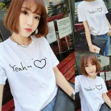 Compare Prices For Women Letter Print White Summer T Shirt Top Tee Blouse Intl