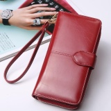 Buy Cheap Women Long Purse Ladies Long Wallet Big Capacity Handheld Purse Handbag New Fashion Pu Wallet With Straps Intl