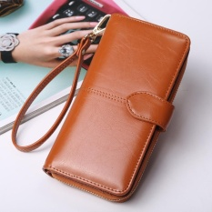 Women Long Purse Ladies Long Wallet Big Capacity Handheld Purse Handbag New Fashion Pu Wallet With Straps Intl Deal