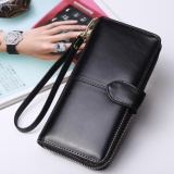 Price Comparisons For Women Long Purse Ladies Long Wallet Big Capacity Handheld Purse Handbag New Fashion Pu Wallet With Straps Intl