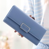 Women Long Purse Ladies Long Wallet Big Capacity Handheld Purse Handbag New Fashion Pu Wallet With Straps Intl Review