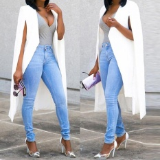 Best Reviews Of Women Loose Long Cloak Blazer Coat Cape Cardigan Jacket Trench Outwear Whl Intl