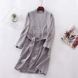 Lowest Price Women Men Summer Thin Robes Nightgown Loungewear Hotel Bathrobe Sleep Wear Intl