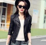 How To Get Women Motorcycle Pu Jacket Biker Coat Leather Jackets Short Outerwear Coat Black Intl