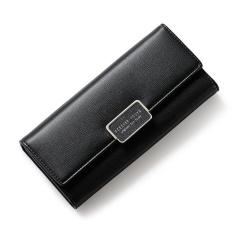 Price Compare Women Multifunction Big Capacity Leather Zipper Wallet 2017 New Korean Style Long Wallet Black Intl