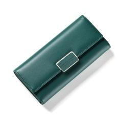 Where Can I Buy Women Multifunction Big Capacity Leather Zipper Wallet 2017 New Korean Style Long Wallet Green Intl