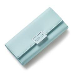 Review Women Multifunction Big Capacity Leather Zipper Wallet 2017 New Korean Style Long Wallet Light Green Intl Oem
