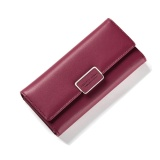 Recent Women Multifunction Big Capacity Leather Zipper Wallet 2017 New Korean Style Long Wallet Red Intl