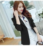 Women New Blazer Suit Coat Slim Long Sleeve Female Casual Blazers Black Intl Cheap