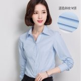 Women Ol Business Long Sleeve Shirt V Neck Offiec Work Formal Shirts Plus Size Intl Coupon