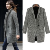 Women Ol Jacket Elegant Women Winter Wool Coats Plus Size Grey Warm Cotton Trench Laides Velvet Thick Jacket Long Overcoat Intl On Line