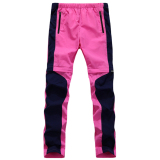 Recent Women Outdoor Quick Dry Pants Removable Stretch Trousers(Rose Red)