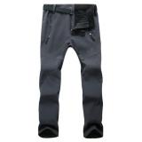 Best Reviews Of Women Outdoor Thick Windproof Trekking Ski Hiking Pants Fleece Waterproof Softshell Pants(Grey) Intl