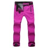 Cheapest Women Outdoor Thick Windproof Trekking Ski Hiking Pants Fleece Waterproof Softshell Pants(Rose) Intl Online