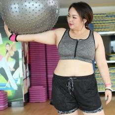 Women Plus Size Zipper Bra Sport Running Gym Yoga Gym Tank Tops Female Yoga Vest Bra Grey Intl Shop