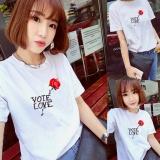 Buy Women Print White Summer T Shirt Top Tee Blouse Intl China
