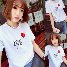 Sale Women Print White Summer T Shirt Top Tee Blouse Intl Online China