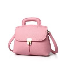 How To Buy Women Pu Leather Shoulder Bag Backpack Pink Export