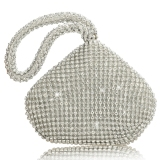 Women Rhinestones Wedding Evening Party Clutch Bag Purse Sliver Intl For Sale Online