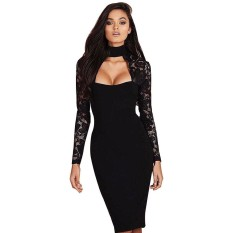 Sale Women S*xy Bridesmaids Pencil Dress Bandage Bodycon Long Sleeve Evening Party Dress Club Dress