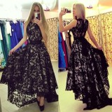 Best Rated Women S*xy Lace Evening Formal Party Cocktail Bridesmaid Prom Gown Long Dress Intl