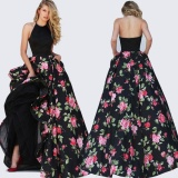 Women S*Xy Summer Boho Long Maxi Evening Party Dress Beach Dress Chiffon Floral Dresses Black Intl Lowest Price