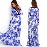 Price Compare Women S*Xy Summer Floral Dress Maxi Long Evening Party Chiffon Dress Intl
