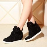 Compare Prices For Women Shoes Autumn Winter Hidden Heel Flock Fashion Wedge Casual Shoes Intl
