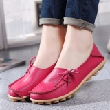 Discounted Women Shoes Leather Beanie Flat Shoes Summer Spring Autumn Slip On Knot Non Slip Woman Ladies Soft Loafers Flats Red Intl Intl