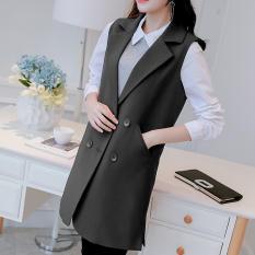 How Do I Get Women Sleeveless Vest Waistcoat Blazer Lady Office Wear Ol Suit Long Coat Jackets Cardigan Outwear For Female Intl
