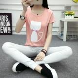Sale Women Slim Casual Printed Short T Shirt Top Intl China Cheap