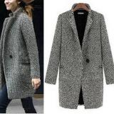 Buying Women Slim Winter Warm Wool Lapel Long Coat Trench Parka Jacket Overcoat Outwear Intl