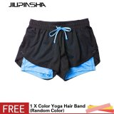 Sale Women Sport Running Shorts 2 In 1 Yoga Workout Gym Fitness Quick Dry Double Layer Breathable Short Pants Intl Jiupinsha Branded