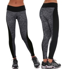 Women Sports Gym Yoga Workout Mid Waist Running Pants Fitness Elastic Leggings - intl