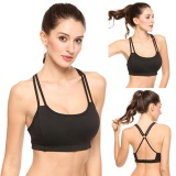 Who Sells Women Sports Solid Yoga Bra High Impact For Workout Fitness With Removable Pads Black Intl