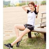 Buy Women Sports T Shirt Yoga Female Jumping Running Clothes Clothing Quick Drying Slim Sweat Fitness Tops White And Black Intl Oem Original