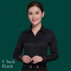 Price Compare Women Spring Summer Ol Shirts Business Female Office Ladies Tops Formal Suit Shirt Intl