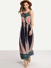 Purchase Women Summer Print Slim Waist Dress Beach Bohemian Skirt New