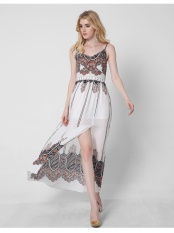 Best Buy Women Summer Sling Print Maxi Dress Intl