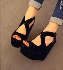 Price Comparison For Women Summer Wedge High Heels Platform Shoes Sandal Shoe Sandals