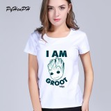Women T Shirt Fashion Kawaii Guardians Of The Galaxy 2 Anime Baby Groot New 2018 Cotton In Women White 003 Intl Cheap