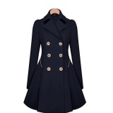 Sale Women Trench Coat Long Coats Female Slim Autumn Winter Button Outwear Windbreaker Plus Size Ladies Clothing Wc0319 Navy Blue Intl Online On China