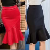 Best Women Vintage Slim S*Xy Pencil Skirt Female Skirts S 5Xl Female Black Black