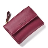 Discount Women Wallet Pu Leather Mini Coin Purses Small Zipper Short Wallets Id Credit Card Holders Fashion Cute Girls Purse Red Intl Oem