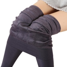 Buy Cheap Women Winter Thick Warm Fleece Lined Thermal Stretchy Leggings Pants Gy Intl