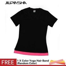 Women Yoga Shirt Quick Drying Sport Short Sleeve T Shirt Running Gym Fitness Jogging Bodybuilding Tees Intl For Sale Online